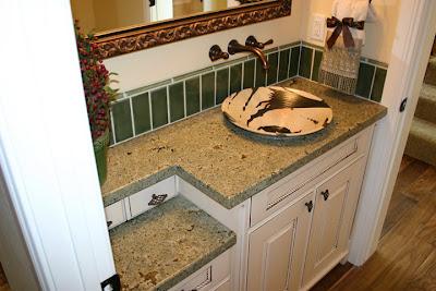 The Granite Gurus Seafoam Green Vanity