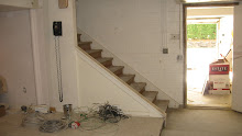 Basement Finishing, S. W. side, Stairwell area before