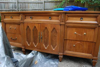 Remodelaholic | Wooden Dresser Painted Green; Furniture Redo