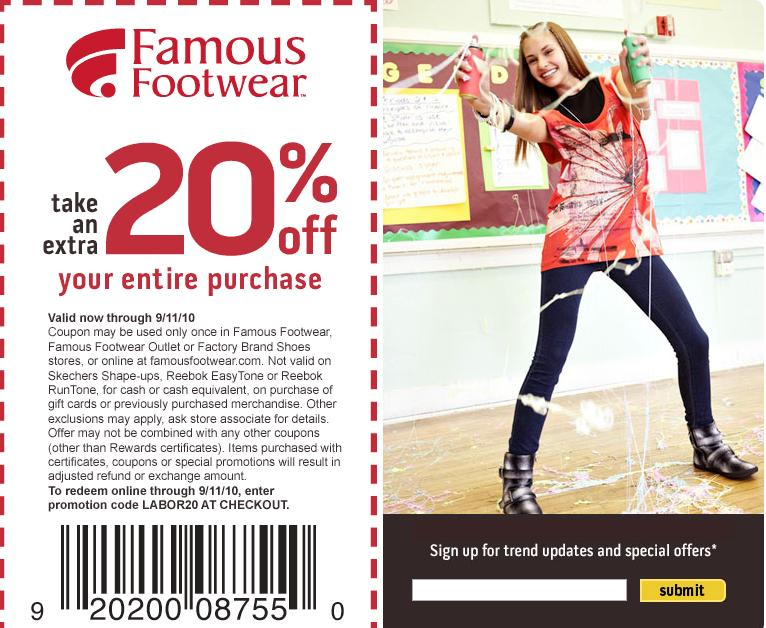 SUPER HOLLYWOOD: Famous Footwear Promo