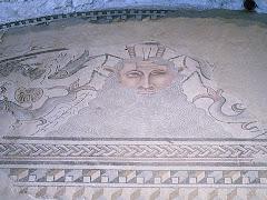 Mosaico en villa romana de Carranque