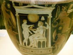 Escena funeraria en cerámica