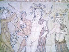 Escena báquica, mosaico