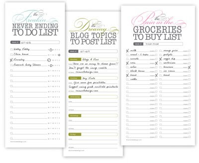 Cute Cute Cute! Free Printable To Do Lists! Happy Money Saver