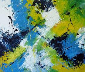 Wonderbaar Schilderijen: Acryl abstract SJ-99
