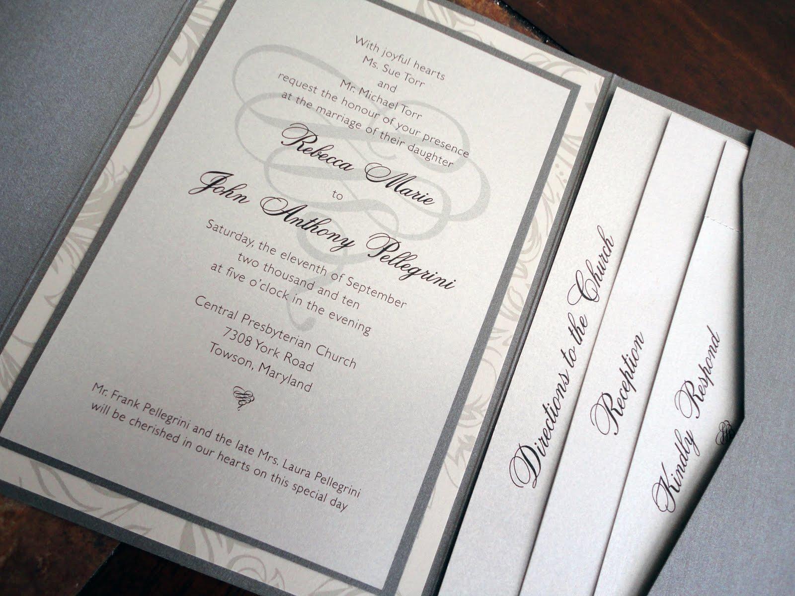 Pocket Wedding Invites: Kindly R.S.V.P. Designs' Blog: Pocket Invitations