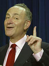 Chuck Schumer, who has a conflict of interest in the US Attorney issue