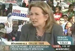 Elizabeth Edwards on Hardball, implying Bush is a racist
