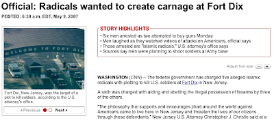 Via CNN - (Islamic) Radicals wanted to create carnage at Fort Dix