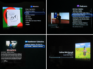 Cover Art and Video Previews on the AppleTV
