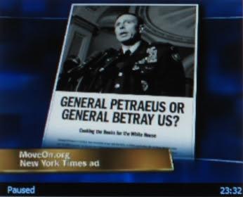 Shameful Moveon ad against Petraeus