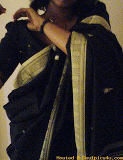 Strip Desi saree