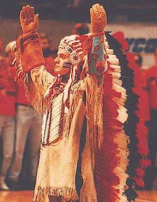chief illiniwek paperweight