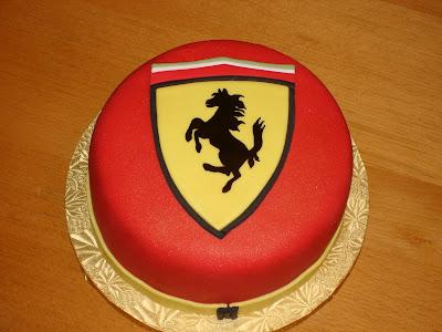 The Caking Hobbyist: Ferrari Cake
