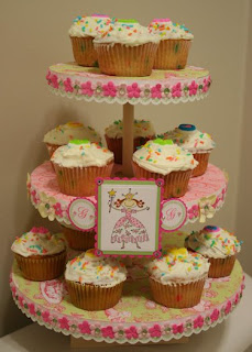 Jademingmei designs princess cupcake stand for Cupcake stand plans
