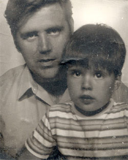 Dad and me, 1970