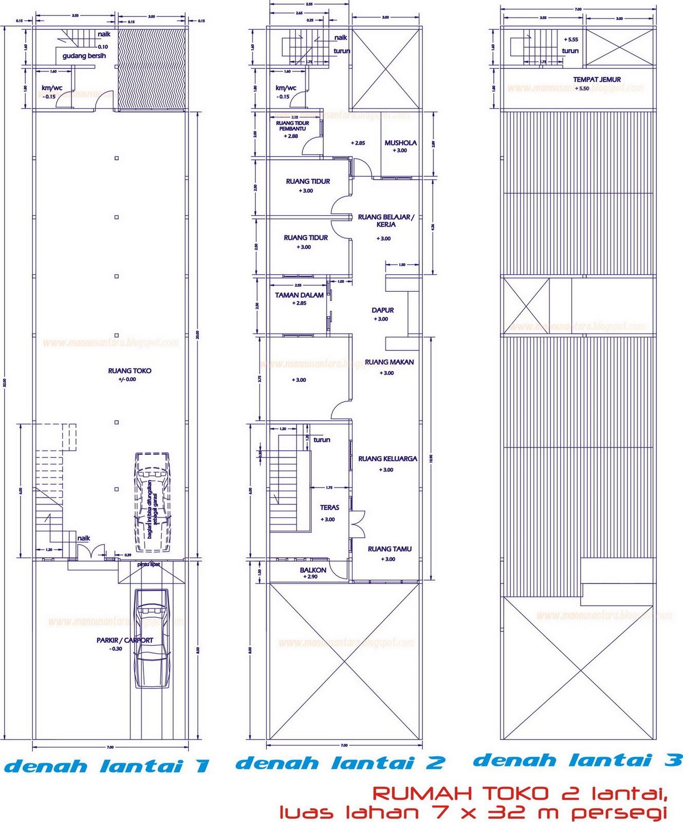 Rumah Bertingkat: House Star: Desain Rumah Toko (Ruko) Dua Lantai