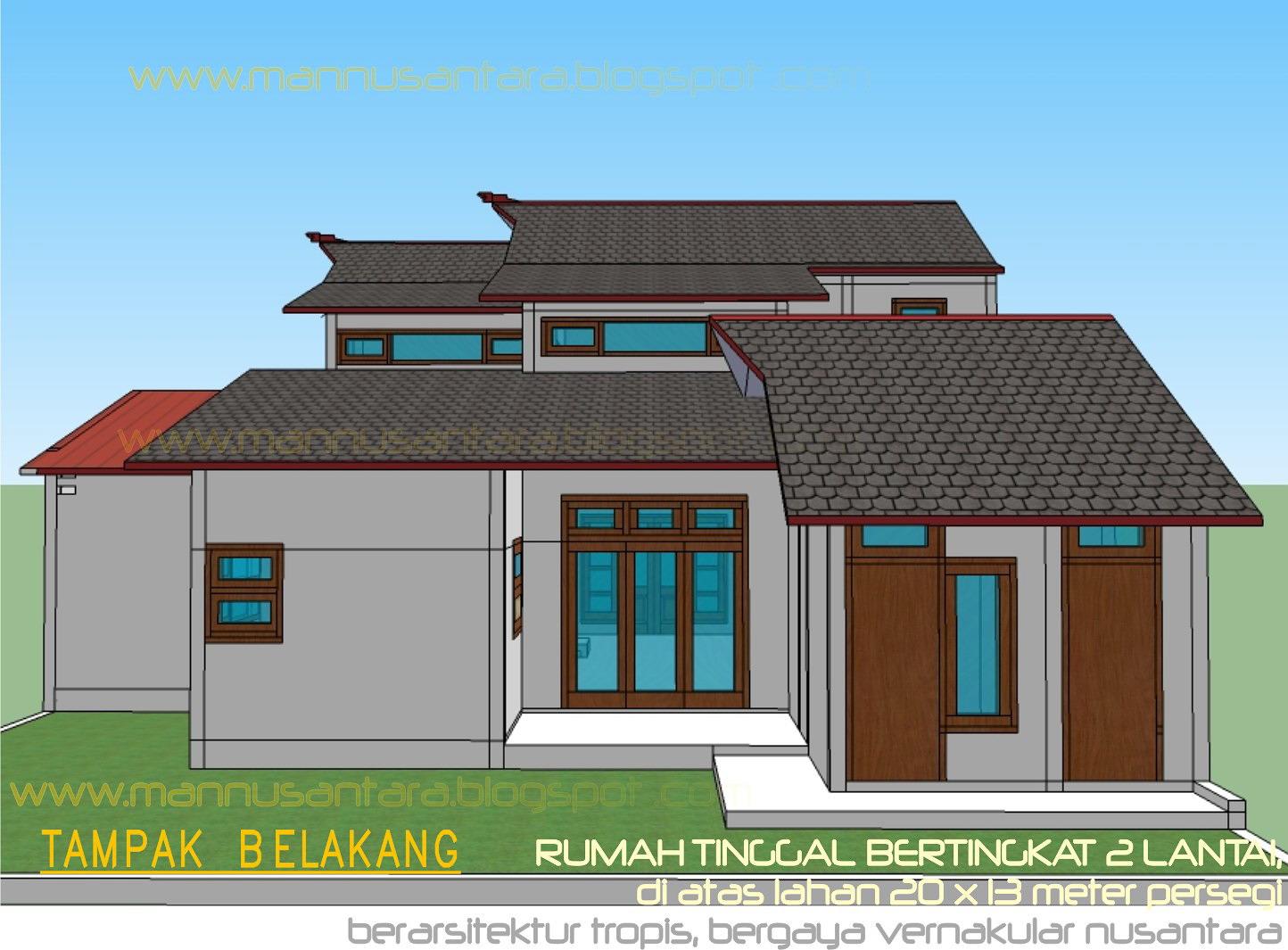 Desain Rumah 2016 Rumah Minimalis Bertingkat Belakang Images