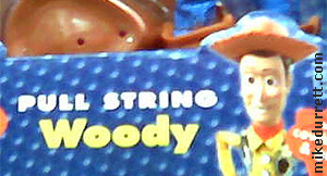 Toy package: PULL STRING WOODY