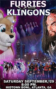 Photo: Klingons vs. Furries bowling