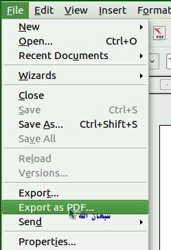 Open office word dokument in pdf umwandeln