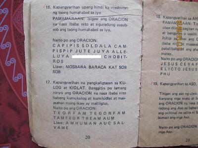 LIHIM NA KARUNUNGAN NG DIYOS AT MGA ORASCION NA HANGO SA