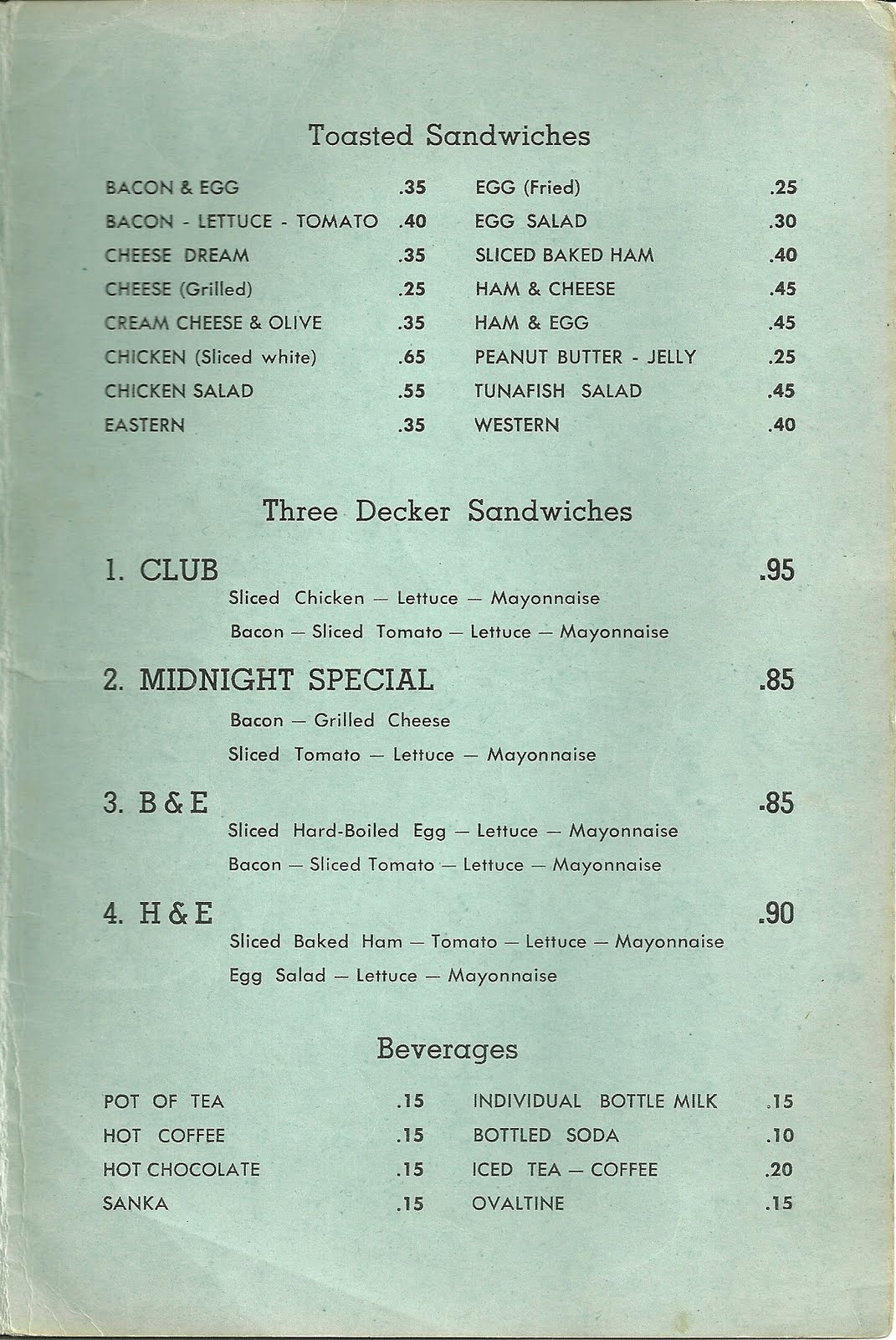 Gage Restaurant Menu