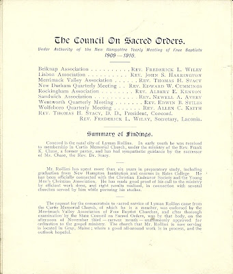 Heirlooms Reunited: 1909 Brochure on Ordination of Lyman ...