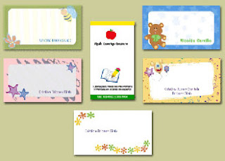 modelos sencillos de tarjetas personales para niños