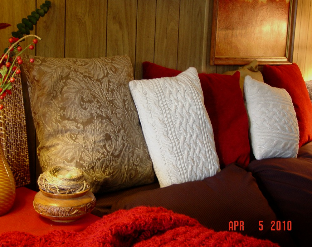 Make The Best Of Things Cozy Pillows From Sweaters