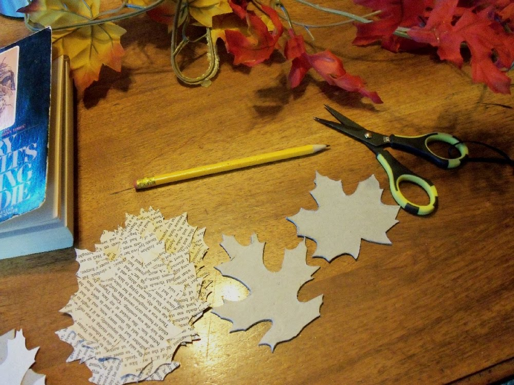 Make The Best of Things: Autumn garland with book leaves. - Decorating Ideas For Cutouts Between Rooms