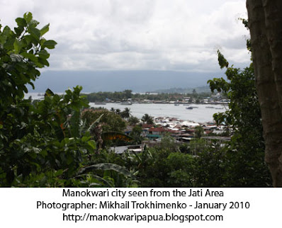 The view of Manokwari city