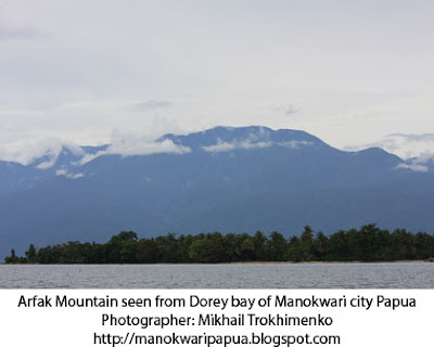 View of the Mountain Range of Arfak in Manokwari regency