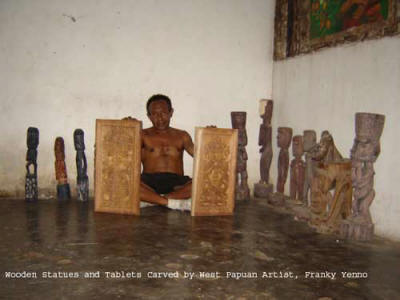 Carving art from West Papua