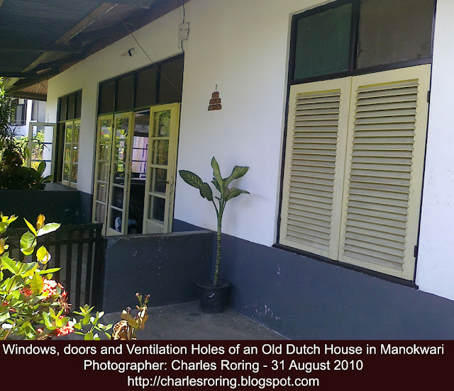 typical ventilation in a tropical house in Indonesia as passive cooling sytem