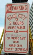 parade sign