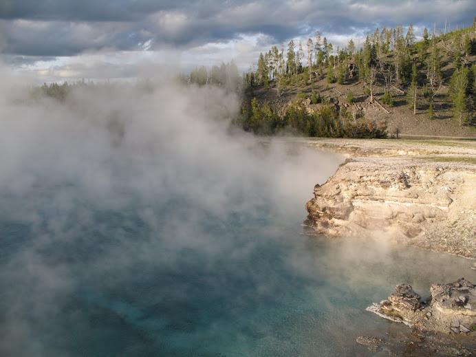 A wild hot spring