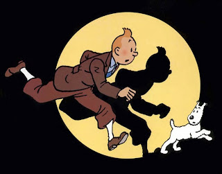 Look at snowy's face-he's always facing tintin!