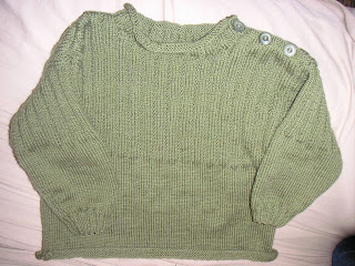 guernsey with ribbed yoke
