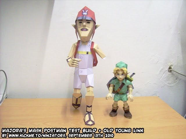 Ninjatoes' papercraft weblog: The Postman and old young Link