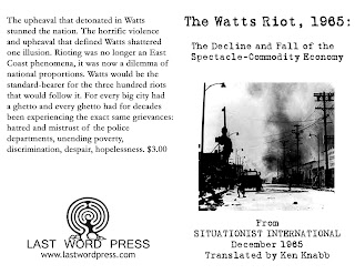 Image for The Watts Riot, 1965: Decline and Fall of the Spectacle-Commodity Economy