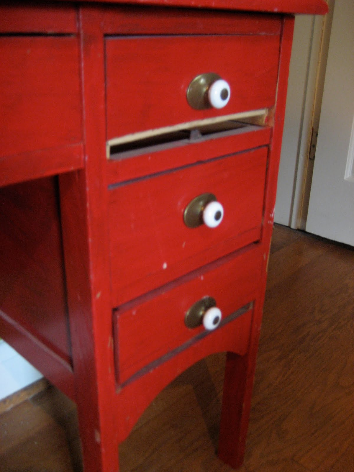 Moving Sale Small Red Roll Top Desk