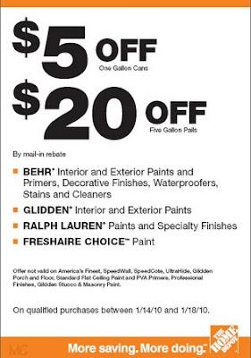 New Paint Rebate From Home Depot Behr Glidden Ralph