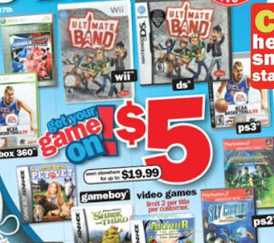 graphic relating to Five Below Printable Coupons titled 5 Right here: $5 Online video Video games this 7 days Mama Cheaps