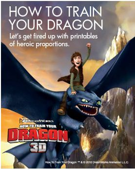 Free How to Train Your Dragon movie Printable Projects ...
