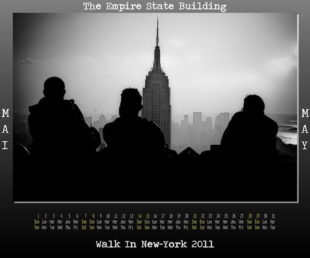 May Calendar New York : Walk in new york calendar may