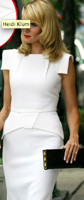 heidi klum in white dress