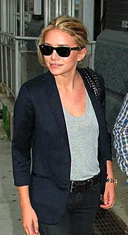 ashley olsen in a members only jacket