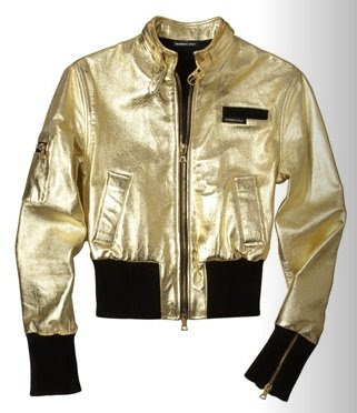members only gold bomber jacket