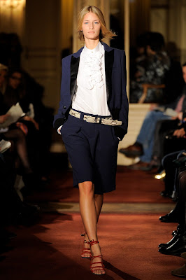alexis mabille navy shorts suit